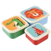 Set tří barevných svačinových boxů Rex London