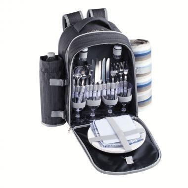 Be Nomad piknikový batoh SEP118, šedý, 30×20×42 cm
