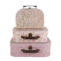 Set tří květinových kufříků VINTAGE, Sass & Belle