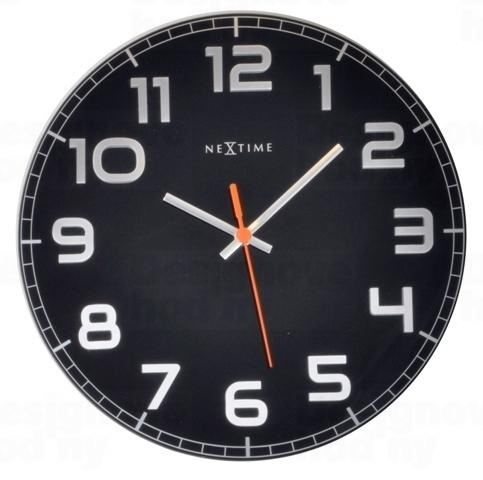 Designové nástěnné hodiny 8817zw Nextime Classy round 30cm