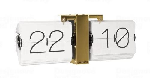 Designové překlápěcí hodiny KA5601WH Karlsson 36cm