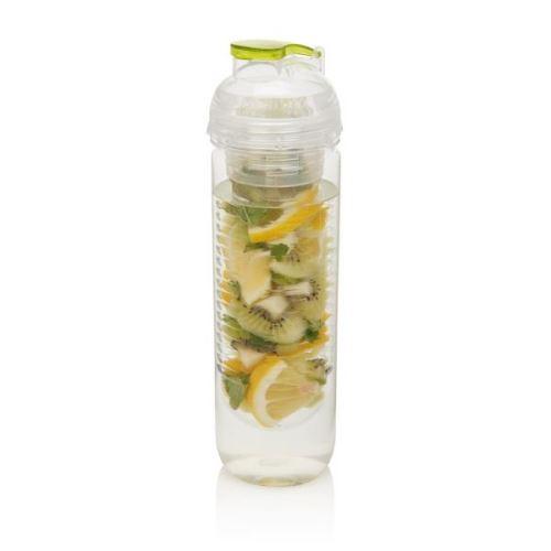 Láhev s košíkem na ovoce, zelená, 500ml