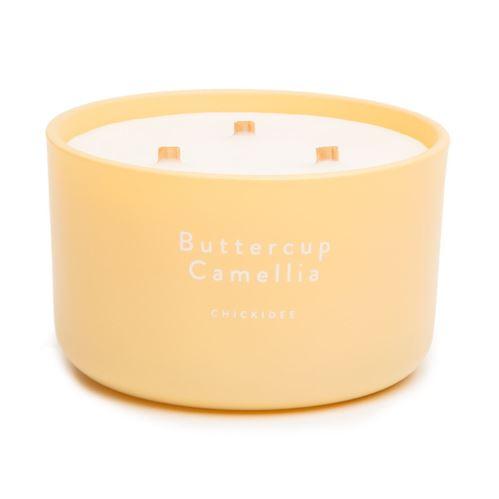 Vonná svíčka Buttercup Camellia, velká, 40 hodin, 3 knoty