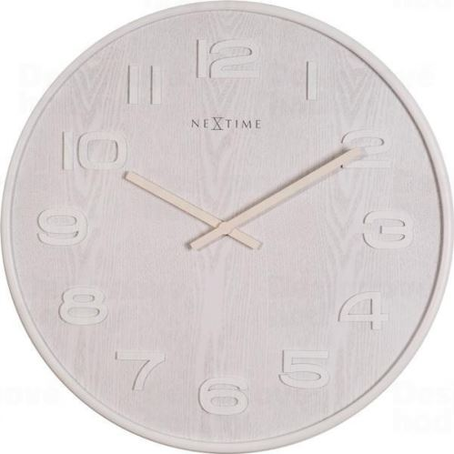 Designové nástěnné hodiny 3095wi Nextime Wood Wood Big 53cm