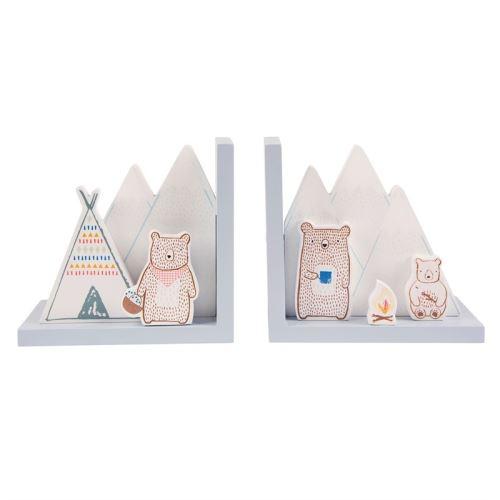 Zarážky na knížky BEAR CAMP, MDF 14,1x30x9,3 cm