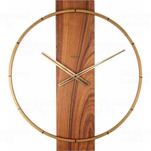 Designové nástěnné hodiny 3195br Nextime Carl 58cm
