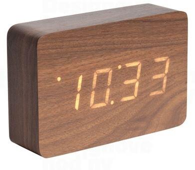 Designový LED budík - hodiny 5653DW Karlsson 15cm