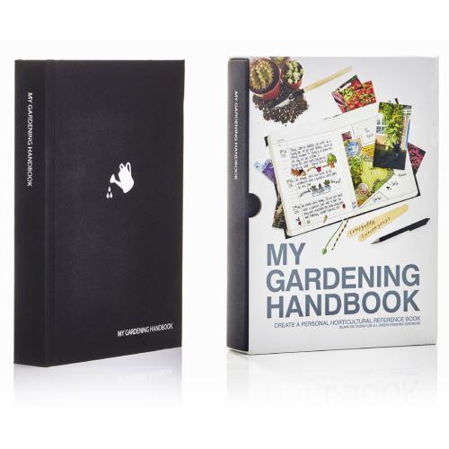 Zahradníkův záznamník My Gardening Handbook, černý