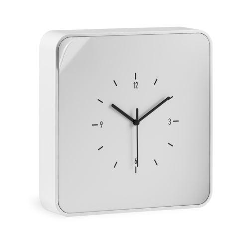 Skříňka na klíče s hodinami ClockBox, bílá