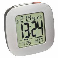 Digitální rádiem řízený budík s ukazatelem vnitřní teploty a podsvícením TFA 60.2542.54 - stříbrný