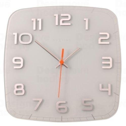 Designové nástěnné hodiny 8816wi Nextime Classy square 30cm