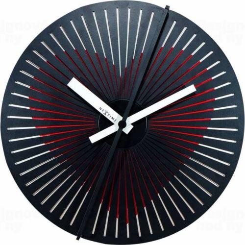 Designové nástěnné hodiny Nextime 3124 Kinegram Heart 30cm