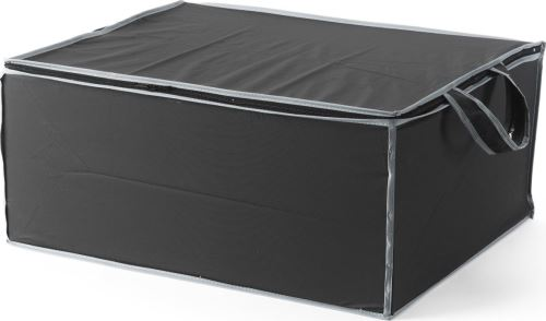 Textilní úložný box na 2 peřiny Compactor 55 x 45 x 25 cm – černý