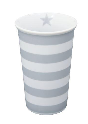Porcelánová váza Grey Stripes