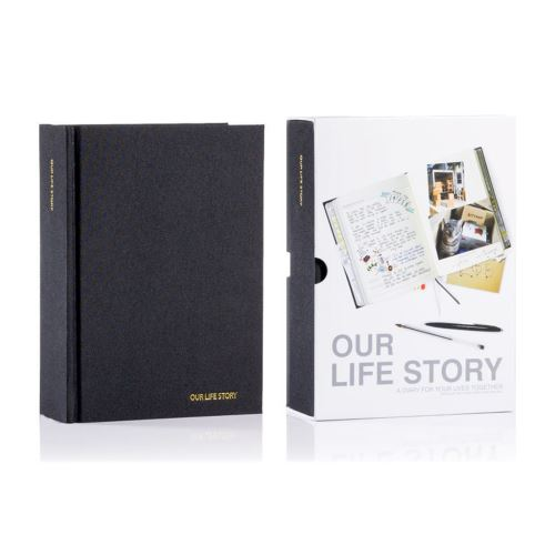 Deník pro dvojici Our Life Story, černý