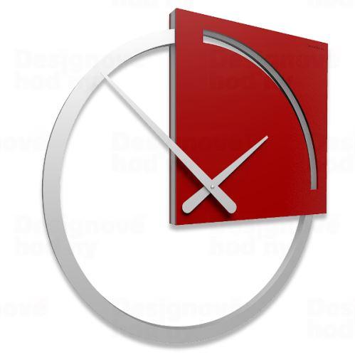 Designové hodiny 10-124 CalleaDesign Karl 45cm (více barevných verzí) Barva světle červená - 64