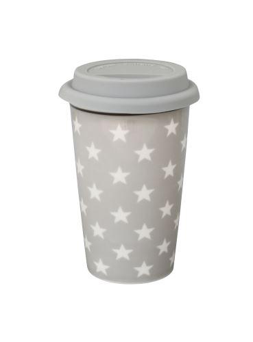 Porcelánový cestovní termohrnek Grey Star 300 ml