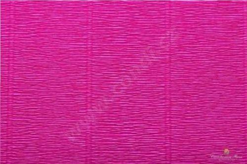 Krepový kornout 25cm x 2,5m 552-CYKLÁMEN