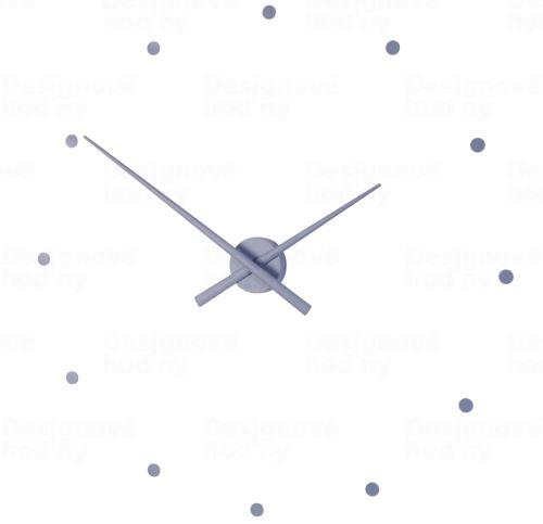 Designové nástěnné hodiny NOMON OJ ocelově modré 50cm