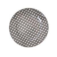 Porcelánový dezertní talíř Grey star 20cm