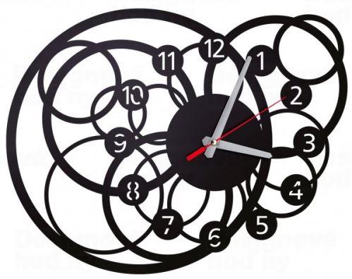 Designové nástěnné hodiny Galaktika 40cm (více barev) Barva černá
