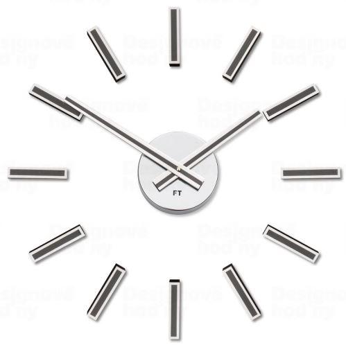 Designové nalepovací hodiny Future Time FT9400TT Modular titanium 40cm