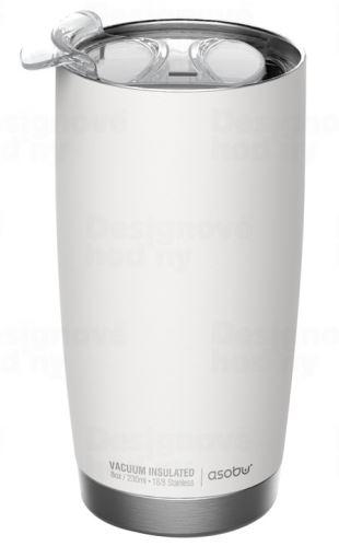 ASOBU luxusní termohrnek The Gladiator white&silver 600ml