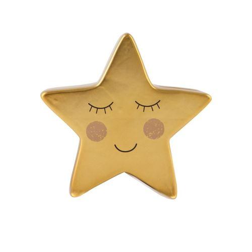 Kasička SWEET DREAMS STAR Sass & Belle, dolomit - zlatá