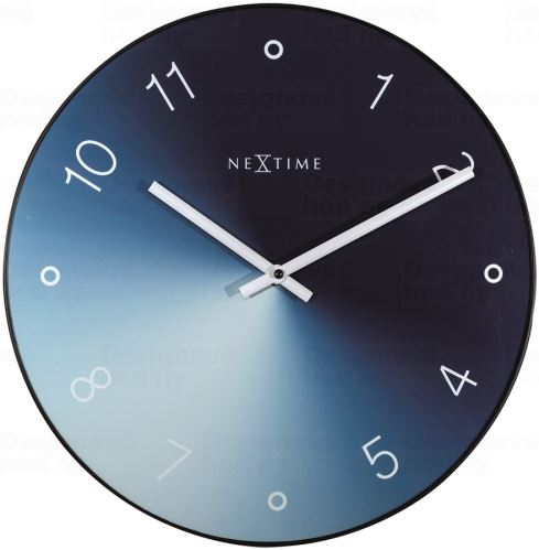 Designové nástěnné hodiny 8194bl Nextime Gradient 40cm