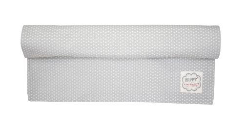 Bavlněný běhoun na stůl Grey Dots 50x160 cm