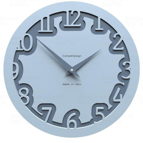 Designové hodiny 10-002 CalleaDesign Labirinto 30cm (více barevných verzí) Barva světle modrá klasik - 74