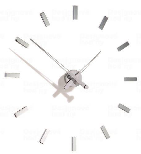 Designové nástěnné hodiny Nomon TACON 12i 73cm Nomon verze stříbrný chrom Inox