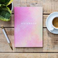 Notes v tvrdých deskách růžovožlutý 21,5x15,5x1cm