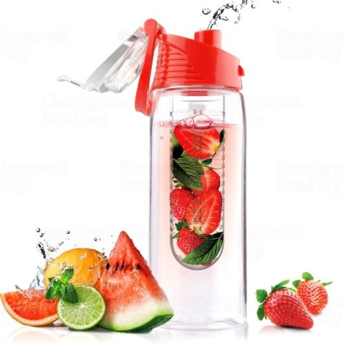 ASOBU designová fresh láhev s infuserem Flavour It červená 600ml