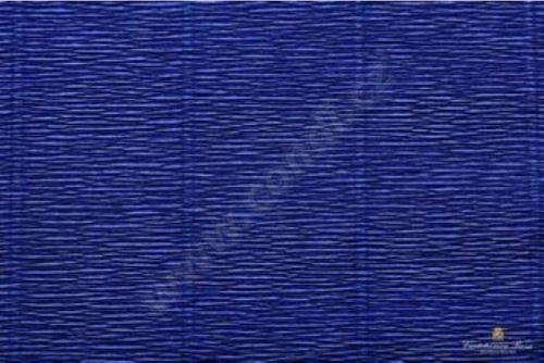 Krepový kornout 25cm x 2,5m 555-ŠVESTKOVĚ MODRÁ