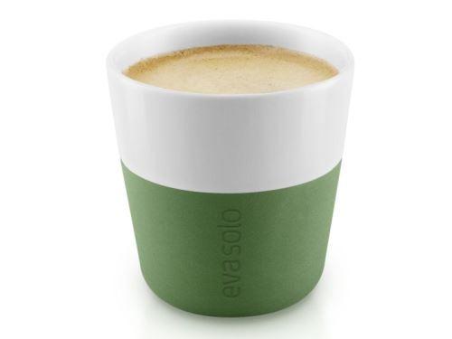 Termošálky na espresso 80 ml, set 2 kusy, botanická zelená