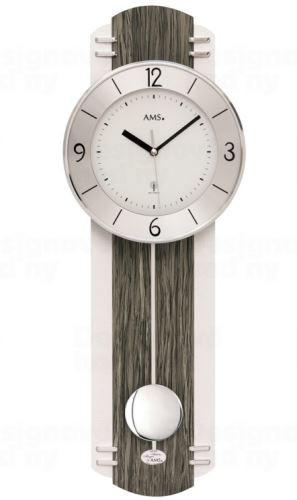 Kyvadlové nástěnné hodiny 5294 AMS řízené rádiovým signálem 60cm