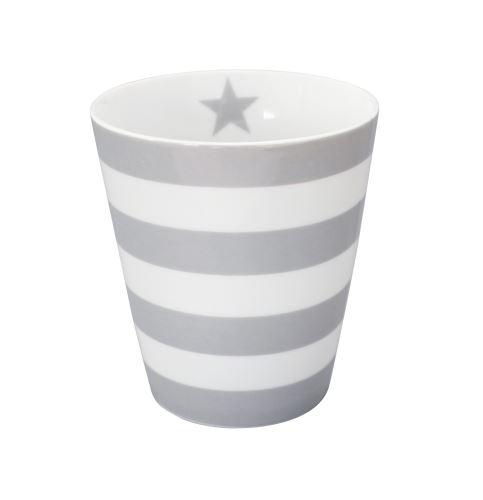 Porcelánový hrnek Stripes Grey 330 ml