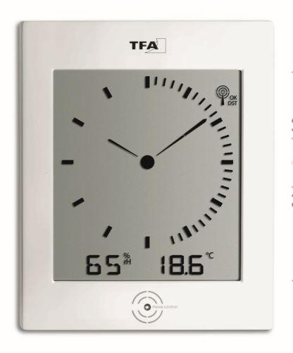 Rádiem řízené nástěnné hodiny TFA 60.4506 DIALOG