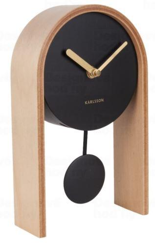 Designové kyvadlové stolní hodiny 5705WD Karlsson 25cm