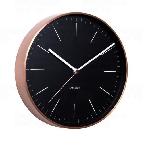 Designové nástěnné hodiny 5507BK Karlsson 28cm