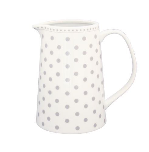 Porcelánový džbánek na mléko Grey dots 220 ml