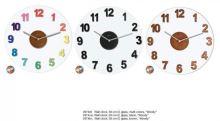 Designové nástěnné hodiny 2974di Nextime WOODY COLOR 39cm