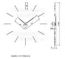 Designové nástěnné hodiny Nomon Merlin 12W 155cm