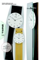 Nástěnné kyvadlové hodiny Twins 9897 natur 50cm