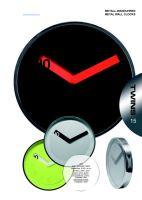 Nástěnné hodiny Twins 08 green 30cm