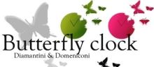 Designové hodiny Diamantini & Domeniconi Butterfly sky blue 40cm