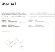 Designové nástěnné hodiny Nomon Axioma inox 60cm