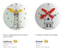Designové nástěnné hodiny 8807 Nextime WINDMILL 30cm