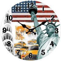 Designové nástěnné hodiny 14849 Lowell 34cm